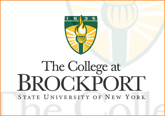 The new college seal for The College at Brockport features a torch that mimics the one in an important sculpture on campus, that of Prometheus, who in Greek mythology is the patron of human civilization and credited with bringing the flame of knowledge to man.