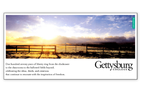 Gettysburg College - Brand Development Concept Boards
