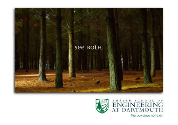 Thayer School of Enginnering at Dartmouth - Brand Development Concept Boards