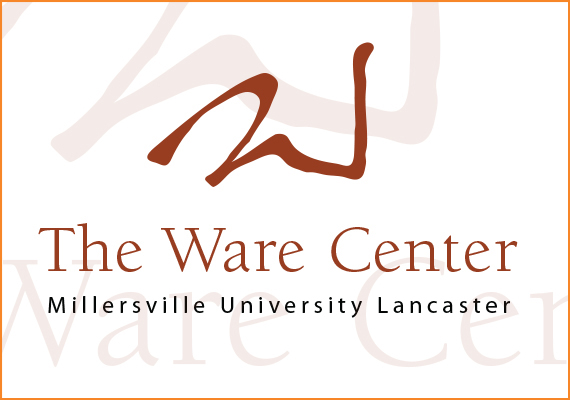 The Ware Center in Downtown Lancaster, PA is Millersville University's new educational and performing arts center. The logo was inspired by the contours and warm color tones of this elegant and beautiful building.